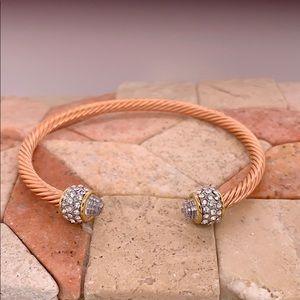 Rose gold plated bangle